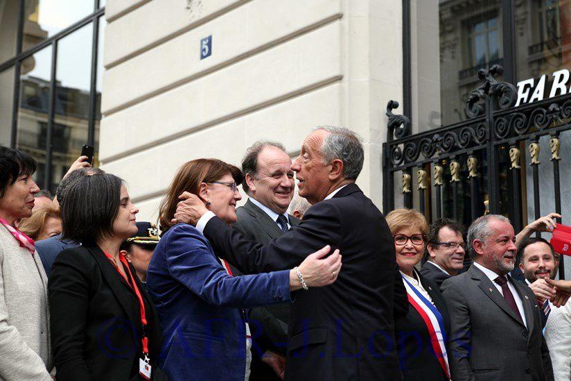 Cerimónias comemorativas do centenario da batalha de La Lys. Avenue des Portugais em Paris.