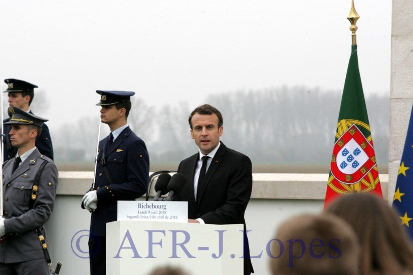 Cerimónias comemorativas do centenario da batalha de La Lis - Cemitério de Richebourg