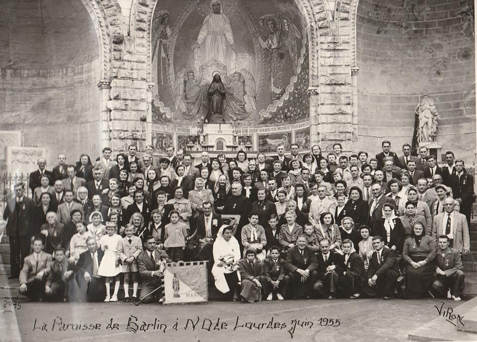 Une excursion à Lourdes en 1955