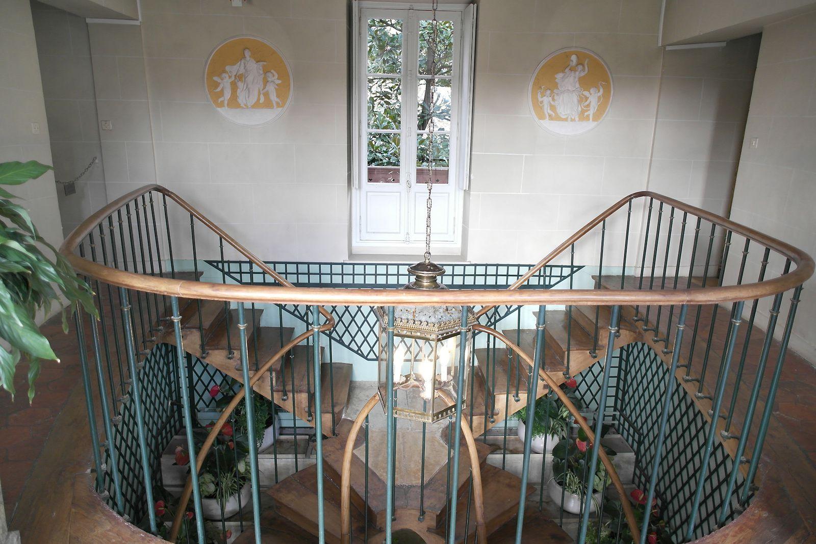 Le grand escalier, vu d'en haut