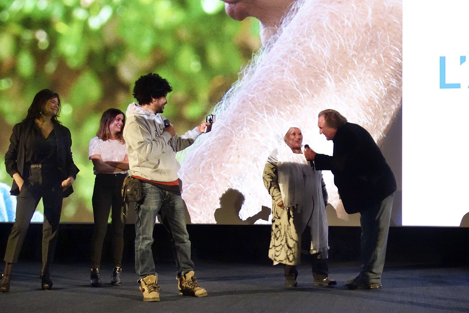GERARD DEPARDIEU à l'UGC BERCY : Avant-première du film TOUR DE FRANCE (14/11/2016)