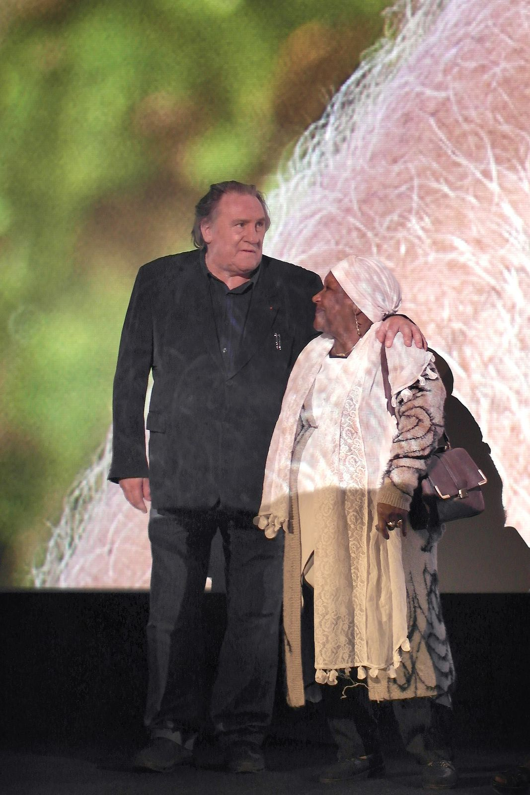 Depardieu avec la mère de Rachid Djaïdani