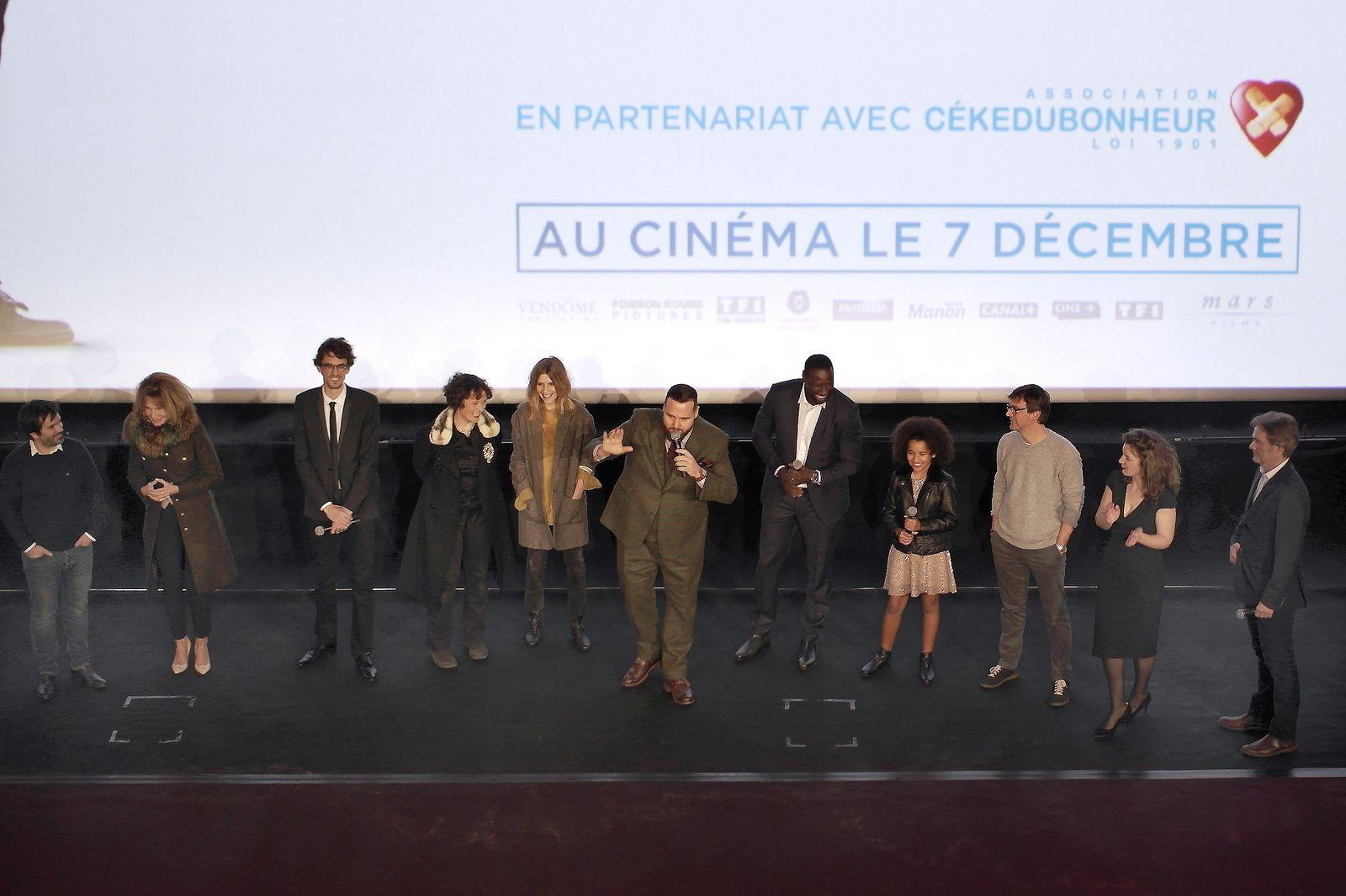 OMAR SY, avant-première DEMAIN TOUT COMMENCE au Grand Rex à Paris (28/11/2016)