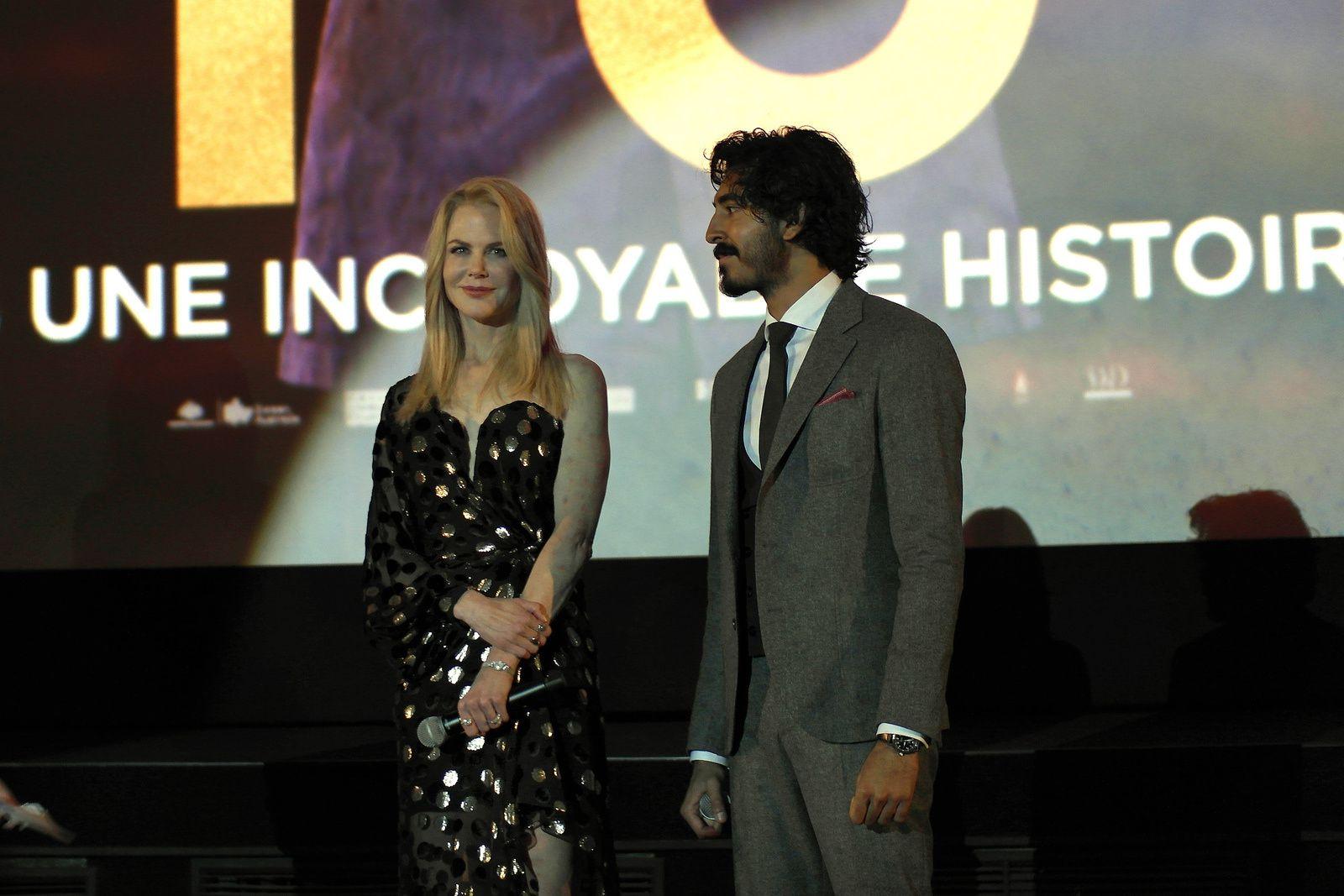 NICOLE KIDMAN et DEV PATEL Avant-première du film LION au Gaumont Opéra (10/02/2017)