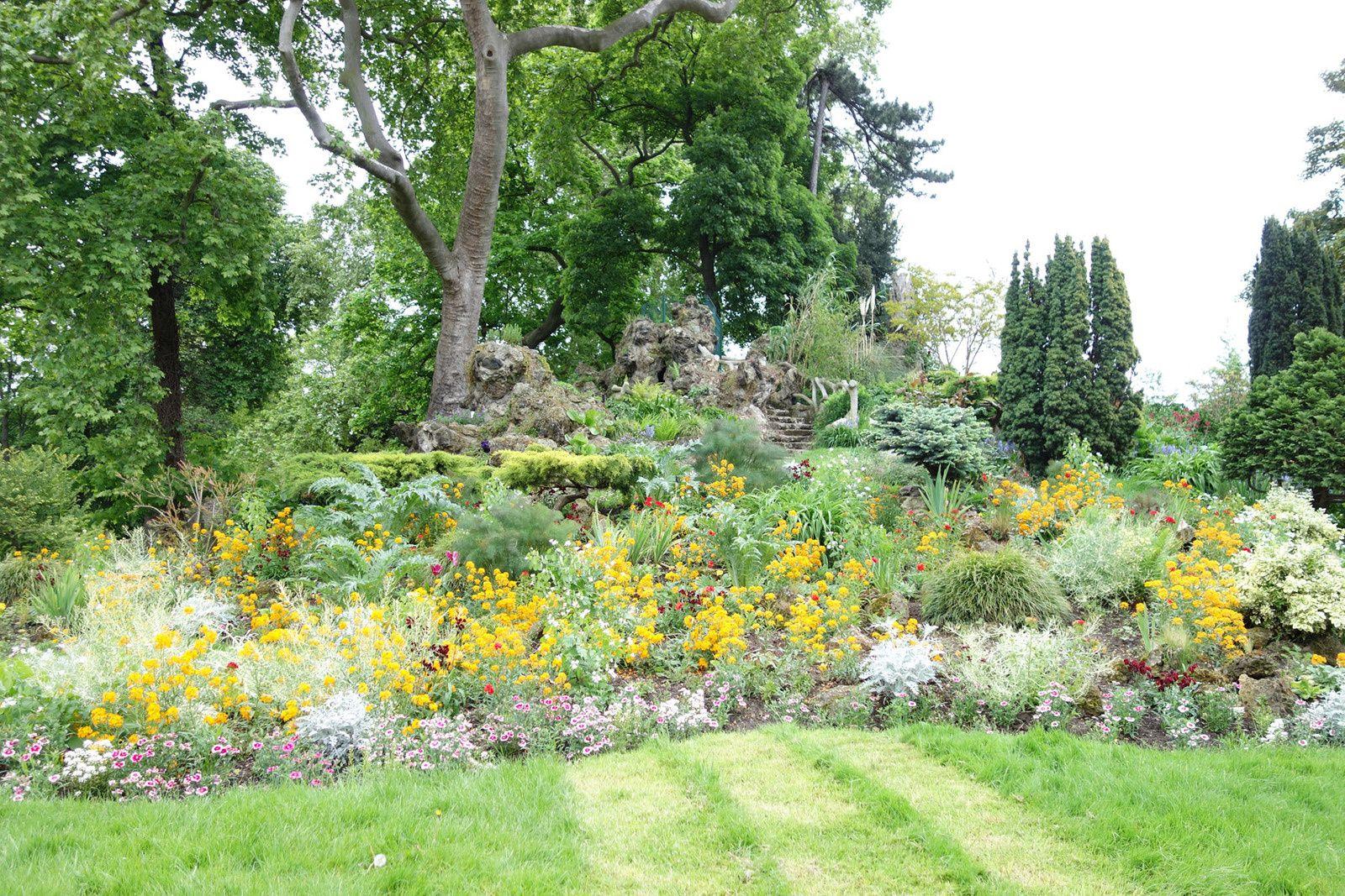 Parterre de fleurs dans le Parc Monceau