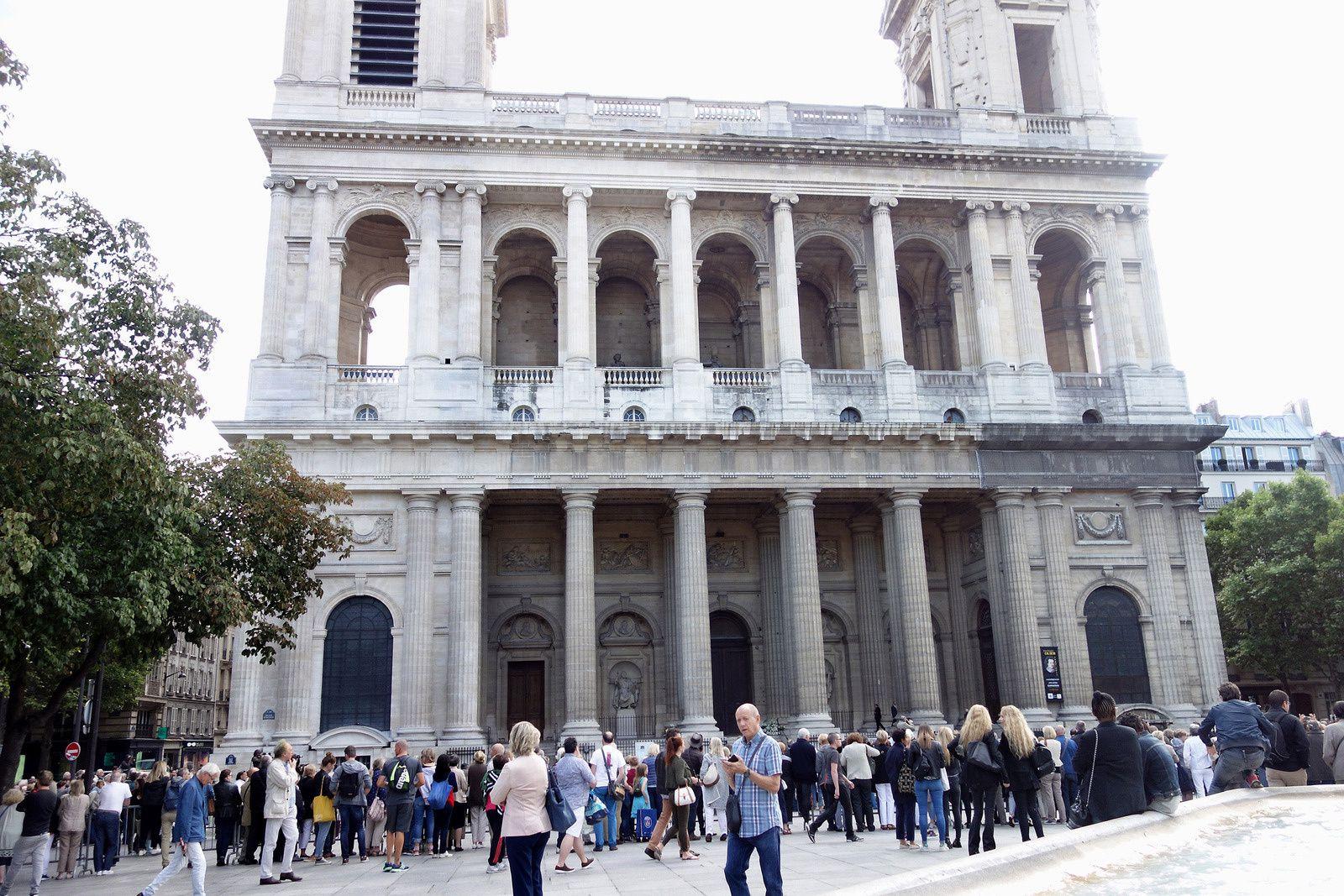 Dernier hommage à MIREILLE DARC en l'église Saint-Sulpice à Paris (01/09/2017)
