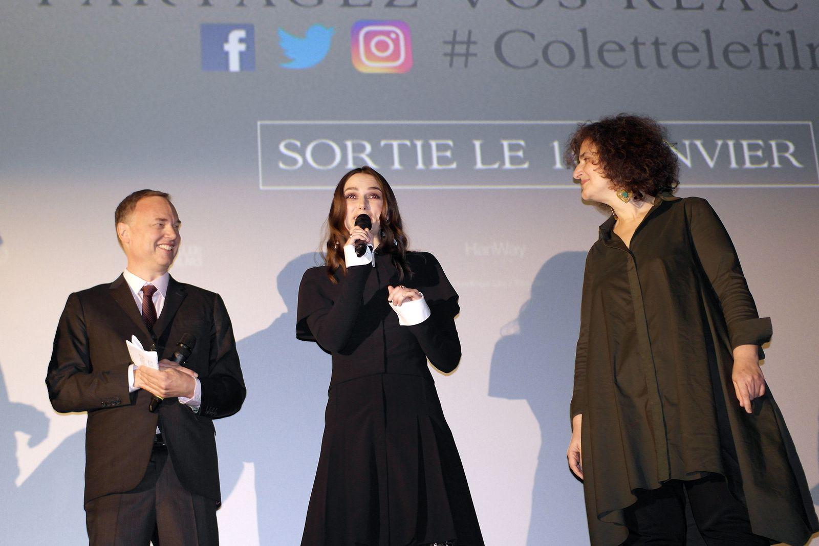 KEIRA KNIGHTLEY, WASH WESTMORELAND avant-première du film COLETTE au Gaumont Champs-Elysée (10/01/2019)
