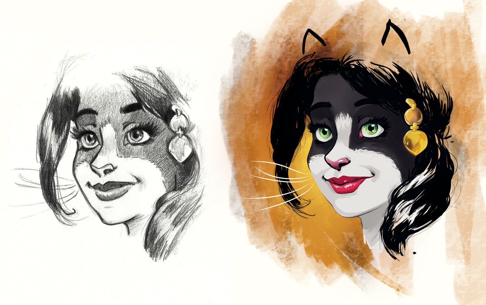 Blacksad Donna Friendship sketch illustration