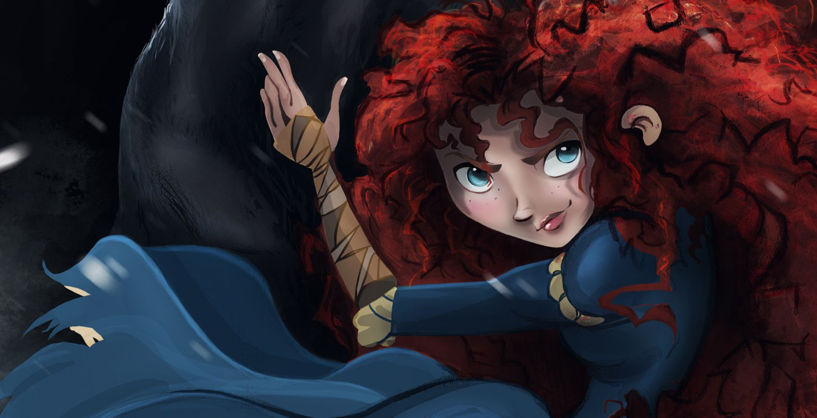 Brave Merida Rebelle illustration Disney Angus