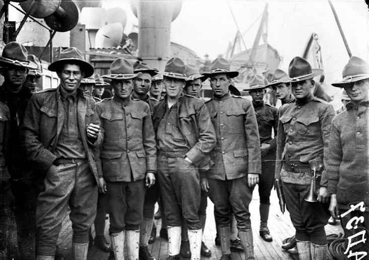1917 : IL Y A CENT DEUX ANS LES  ETATS-UNIS D'AMÉRIQUE ENVOYAIENT LES BOYS POUR SOUTENIR LA FRANCE  ET SES ALLIÉS ENGAGÉS DANS LA 1ÈRE GUERRE MONDIALE CONTRE L'ALLEMAGNE.