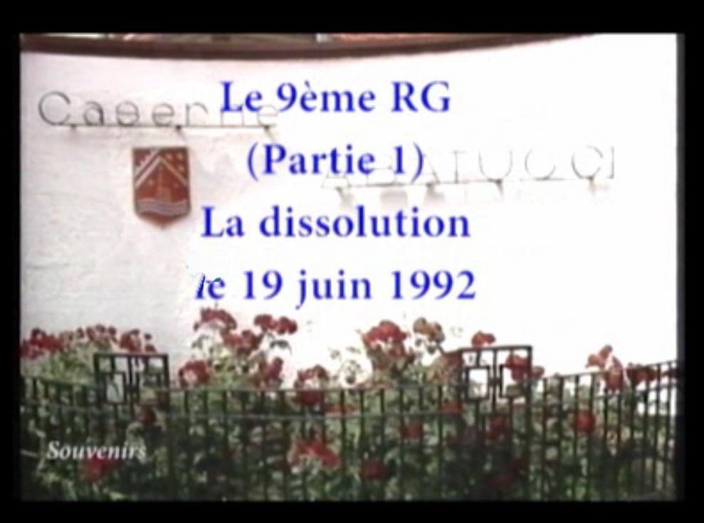 Archives: Dissolution du 9ème RG de Neuf-Brisach (1)