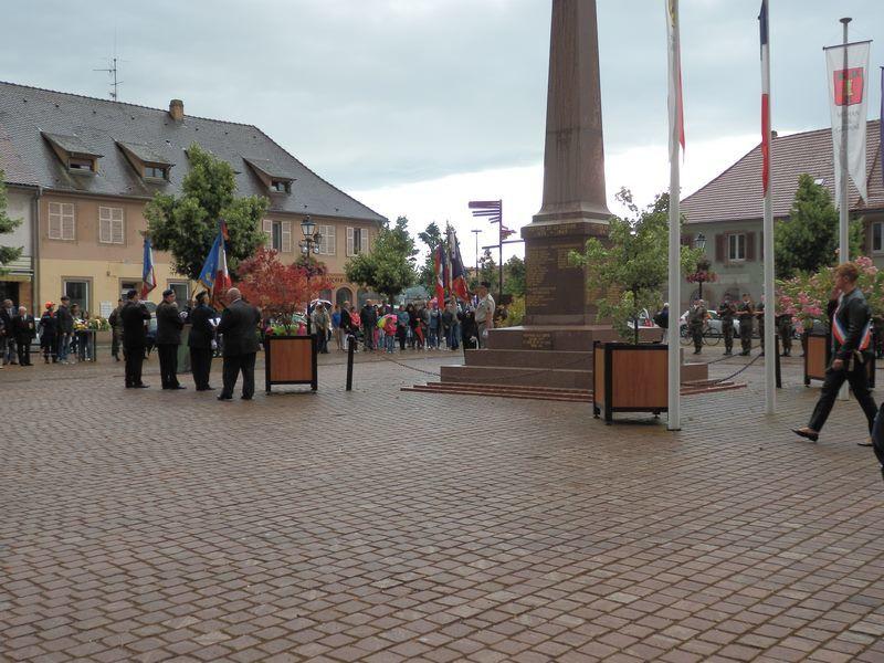 Cérémonie à Neuf Brisach soirée du 13 juillet 2016