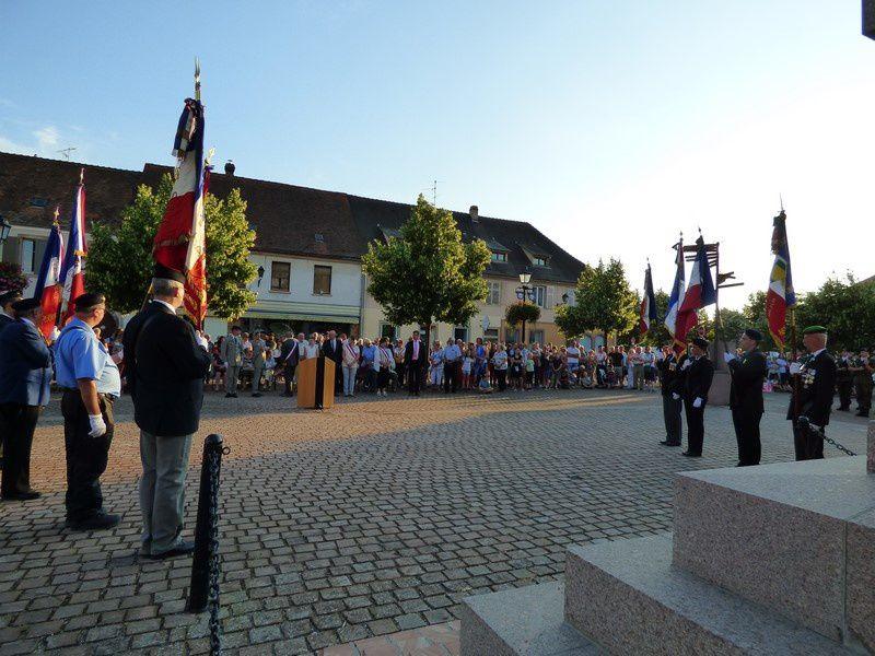 cérémonie du 13 juillet 2018 à Neuf-Brisach