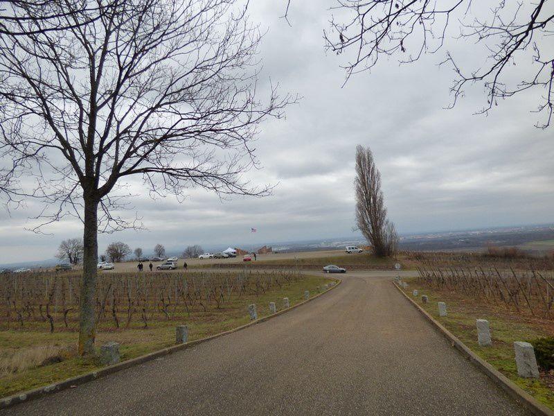 vues et Monument des Américains à Sigolsheim