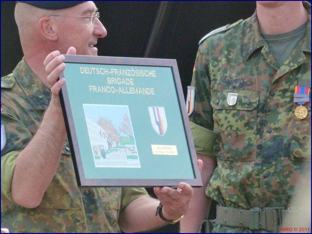 ARCHIVES 2011 -Passation de commandement pour la Brigade franco-allemande à Neuf-Brisach