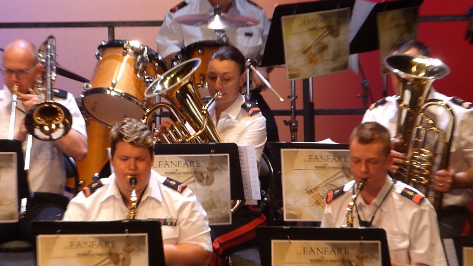 Concert de la Fanfare du RMT  pour les blessés de l'Armée de Terre le 1er juin à Mulhouse