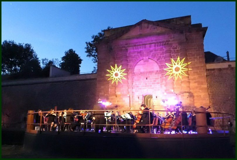 Superbe concert en plein air des Jeunes Musiciens de Strasbourg à Neuf-Brisach ce 8 juin  2019