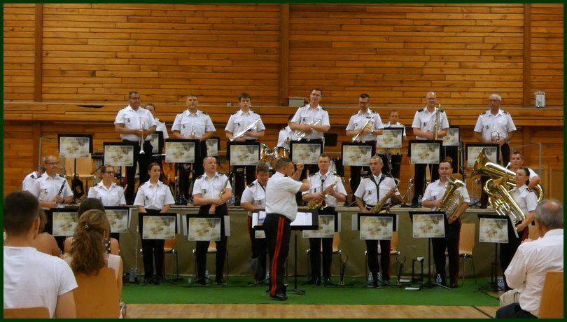 La Fanfare du RMT en concert à Meyenheim le 29 juin 2019 joue pour les Blessés de l'Armée de Terre