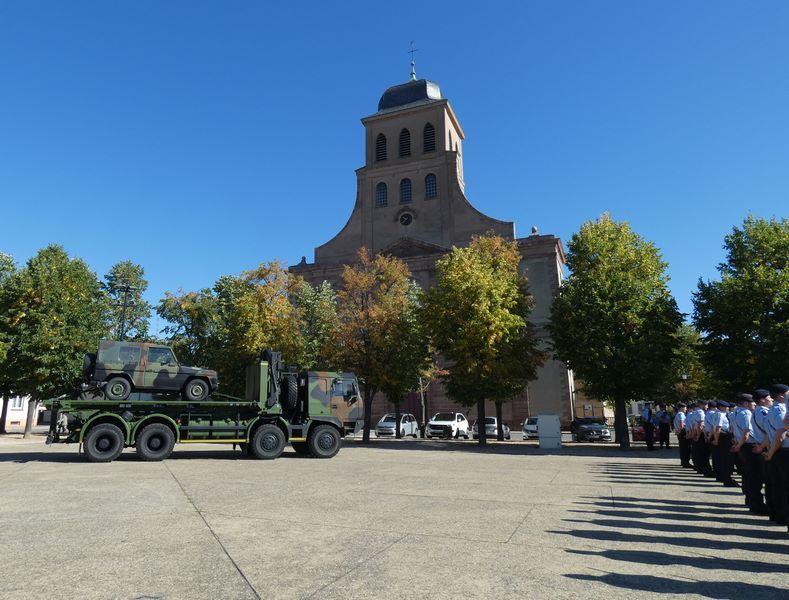 Cérémonie de passation de commandement du Bataillon de commandement et de soutien de la BFA à Neuf-Brisach le 13 septembre 2019