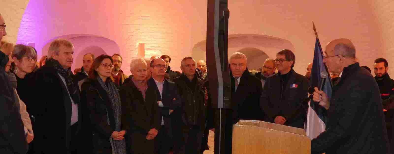 Présentation de l'historique des lieux, ainsi que prise de parole par M. Jean Rottner,  Mme Brigitte Klinker, M. Eric Straumann.