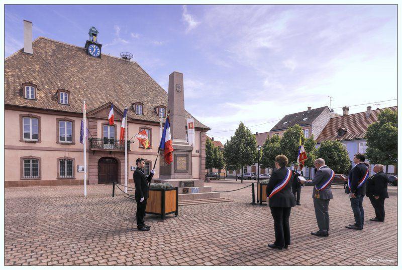 Cérémonie du  75ème Anniversaire de la Libération à Neuf-Brisach le 8 mai 2020 (Armistice - Victoire sur le nazisme)