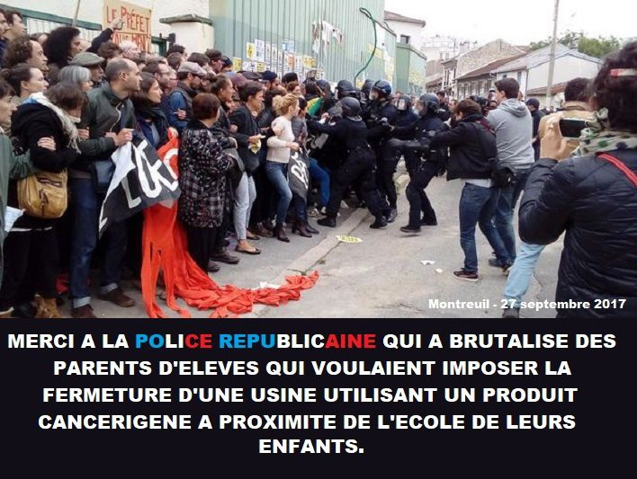 MERCI A LA POLICE REPUBLICAINE