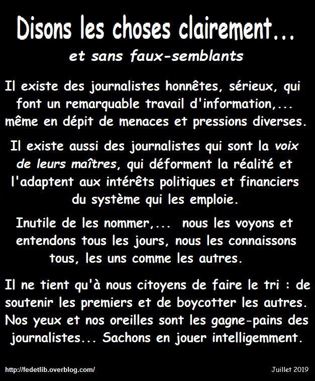 DISONS LE CLAIREMENT !