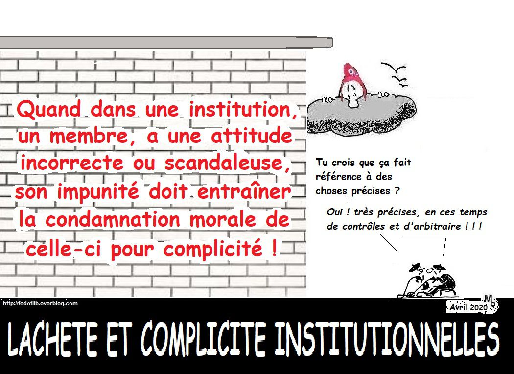 IMPUNITÉ INSTITUTIONNELLE  #Fedetlib