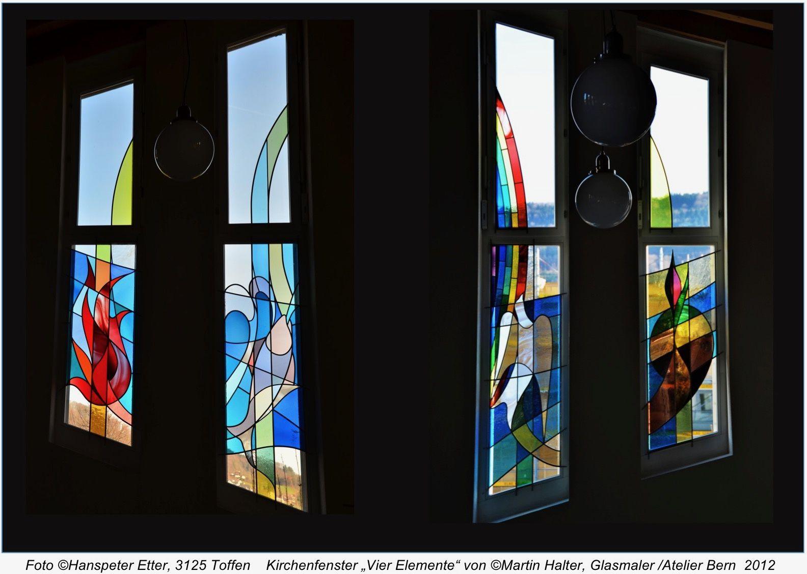 Glaskunst-Integration in der Architektur. Martin Halter Atelier Bern info@glasmalkunst.ch