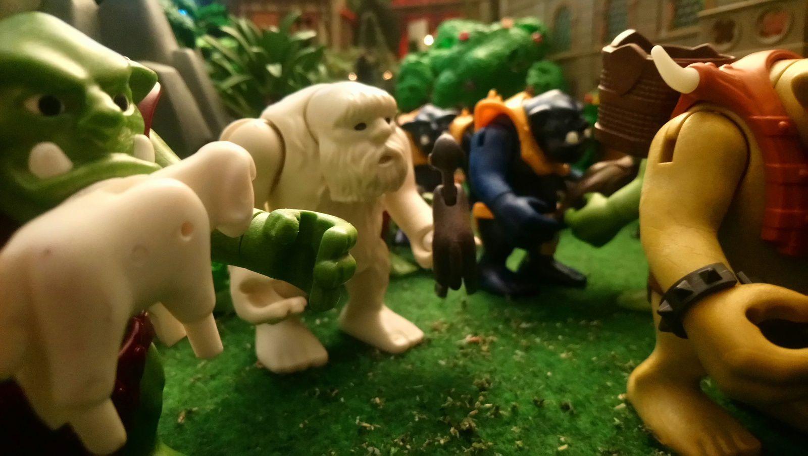 Les trolls aussi se régalent de sangliers fraîchement chassés en forêt et de moutons du troupeau royal.