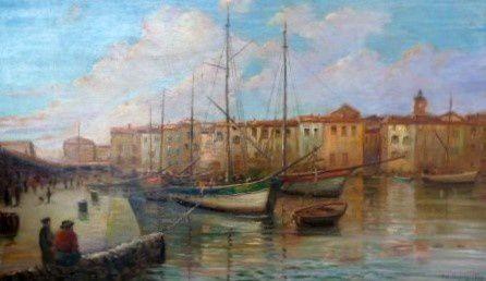 L'entrée du port se St Tropez .