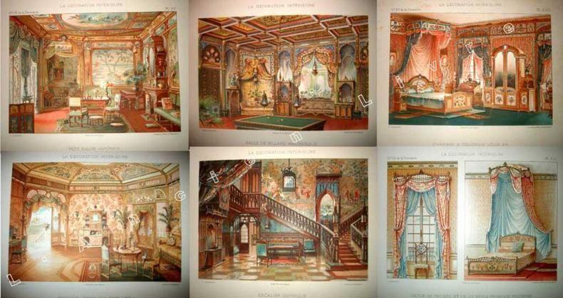 Extrait . La décoretion intérieur  1893 1895