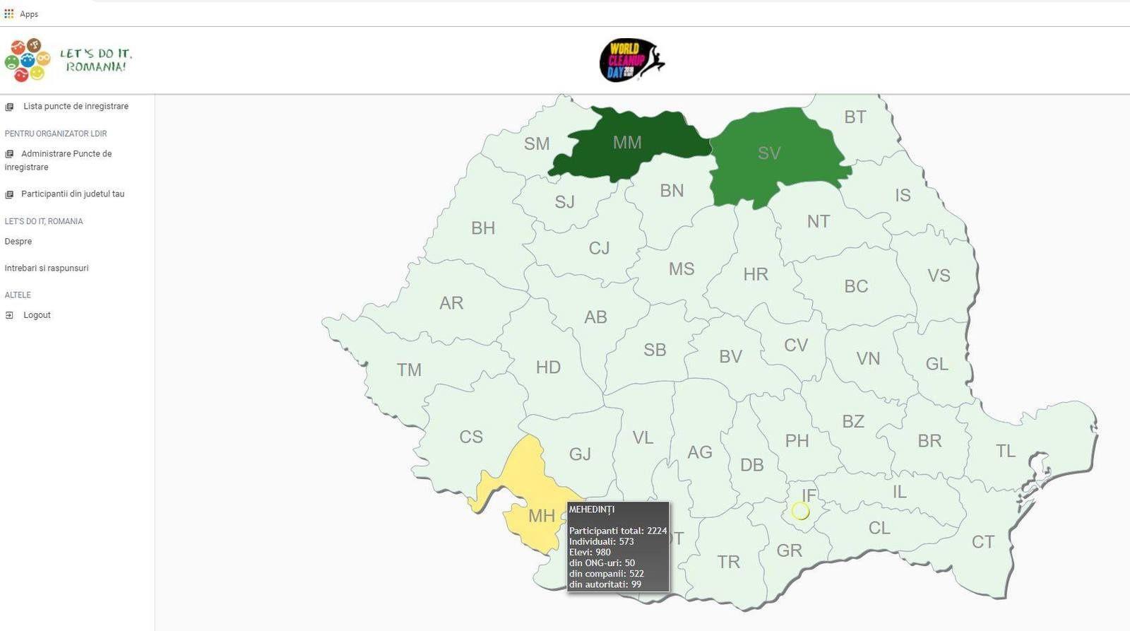 """""""Ziua de Curățenie Națională 2019"""", în județul Mehedinți"""