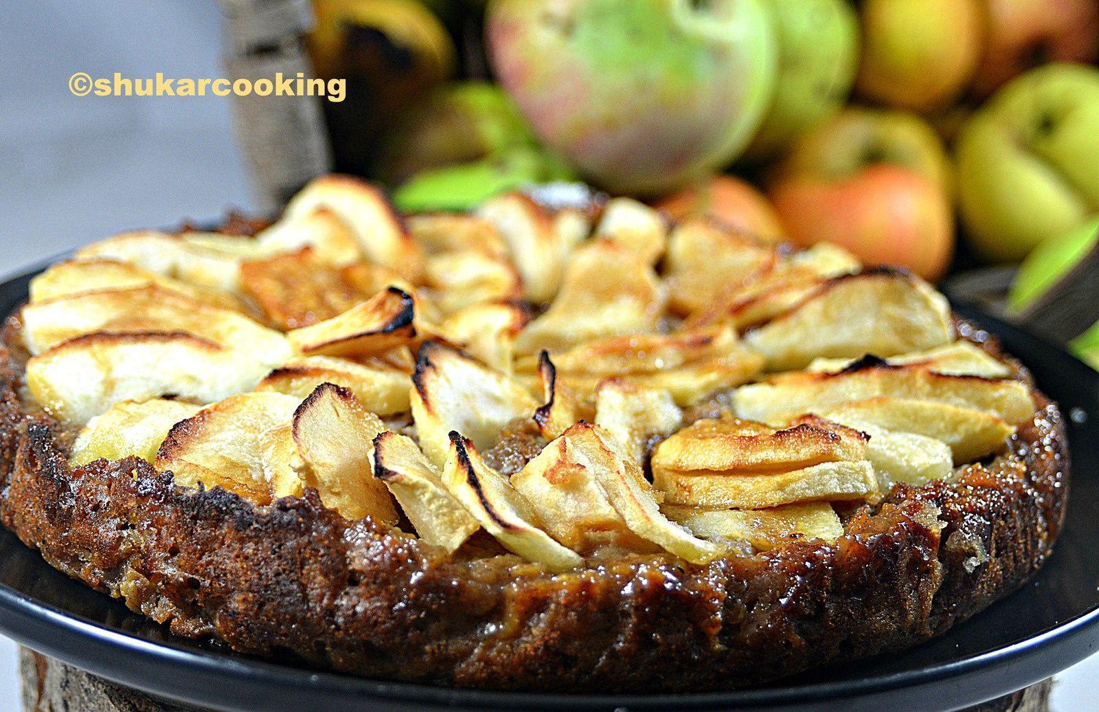 Tarte pommes-pommes châtaigne
