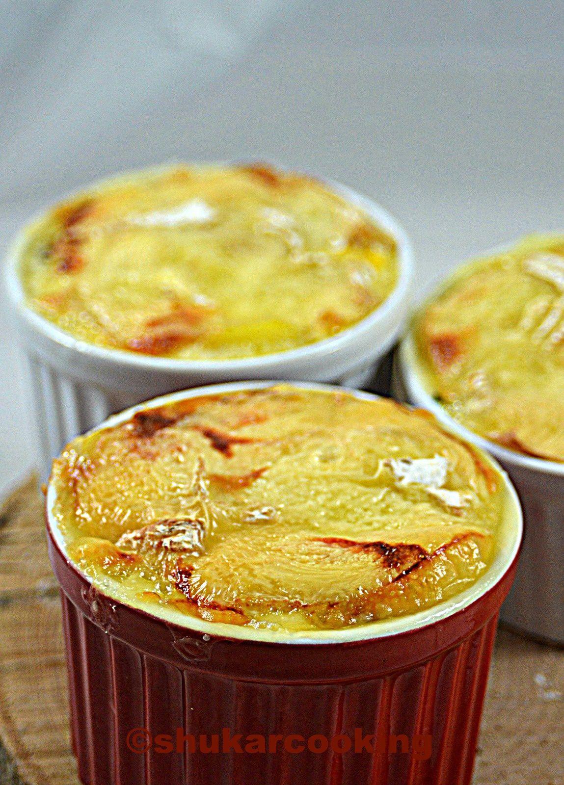 Gratins pomme de terre, épinards au camembert