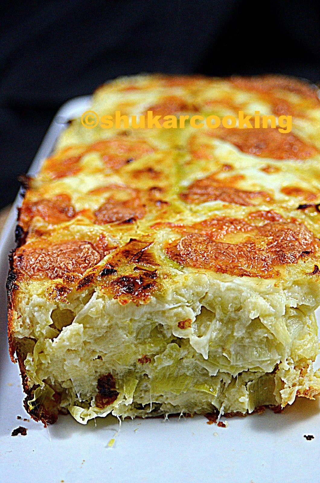 Cake moelleux poireaux mozzarella