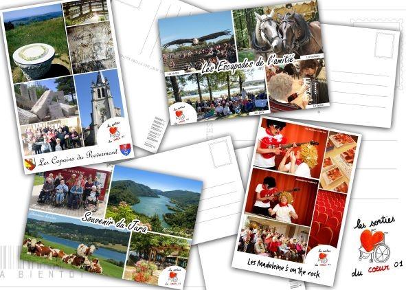 cartes postales souvenirs et Jeanine du BON REPOS en répétition chorale par skype !!
