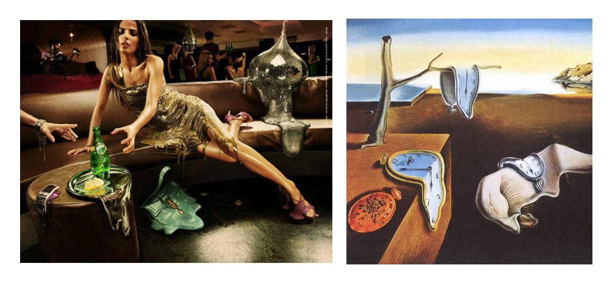 Dali: Persistance de la mémoire / Pub Perrier ...