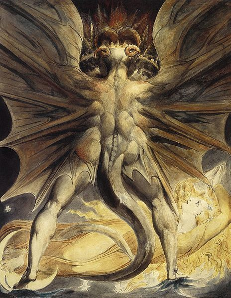 William Blake... The Great Red Dragon with the Woman Clothed with the Sun , 1805-1810
