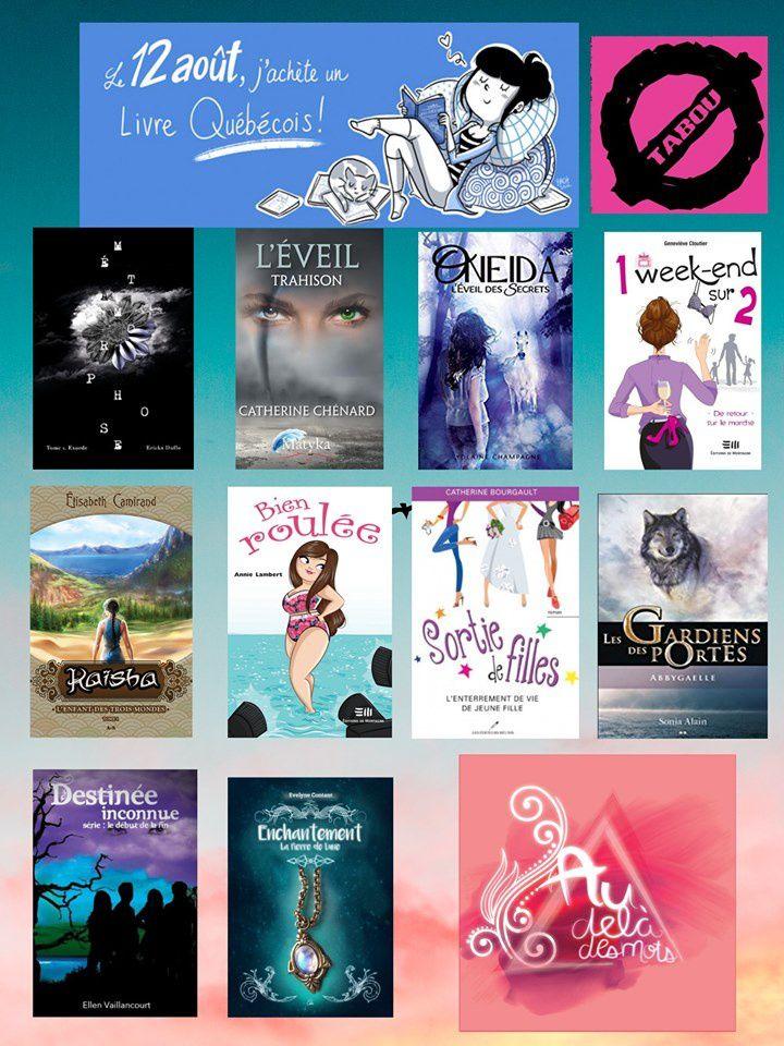 """Le tome 1 de """"Les gardiens des portes"""" est suggéré comme achat pour l'événement du """"12 août, j'achète un livre québécois"""" par le blogue """"Au-delà des mots-blog littéraire""""."""