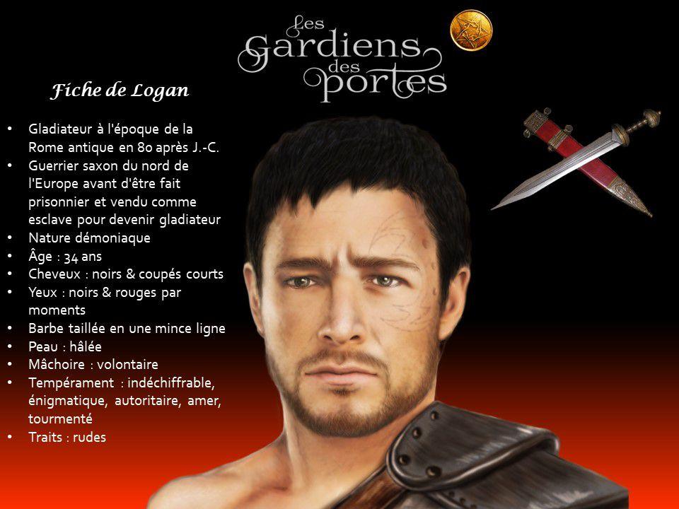 """Logan - Mon troisième Seigneur des ténèbres   héros de mon roman """"Les gardiens des portes - Amélie""""   Dessin de Sheila Basque - www.bashdesign.com"""