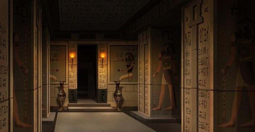 Couloir dans le palais - Cléopâtre