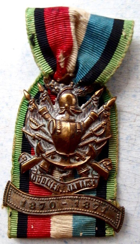 """Sa médaille """"N'oublier jamais"""" l'Alsace et la Lorraine"""