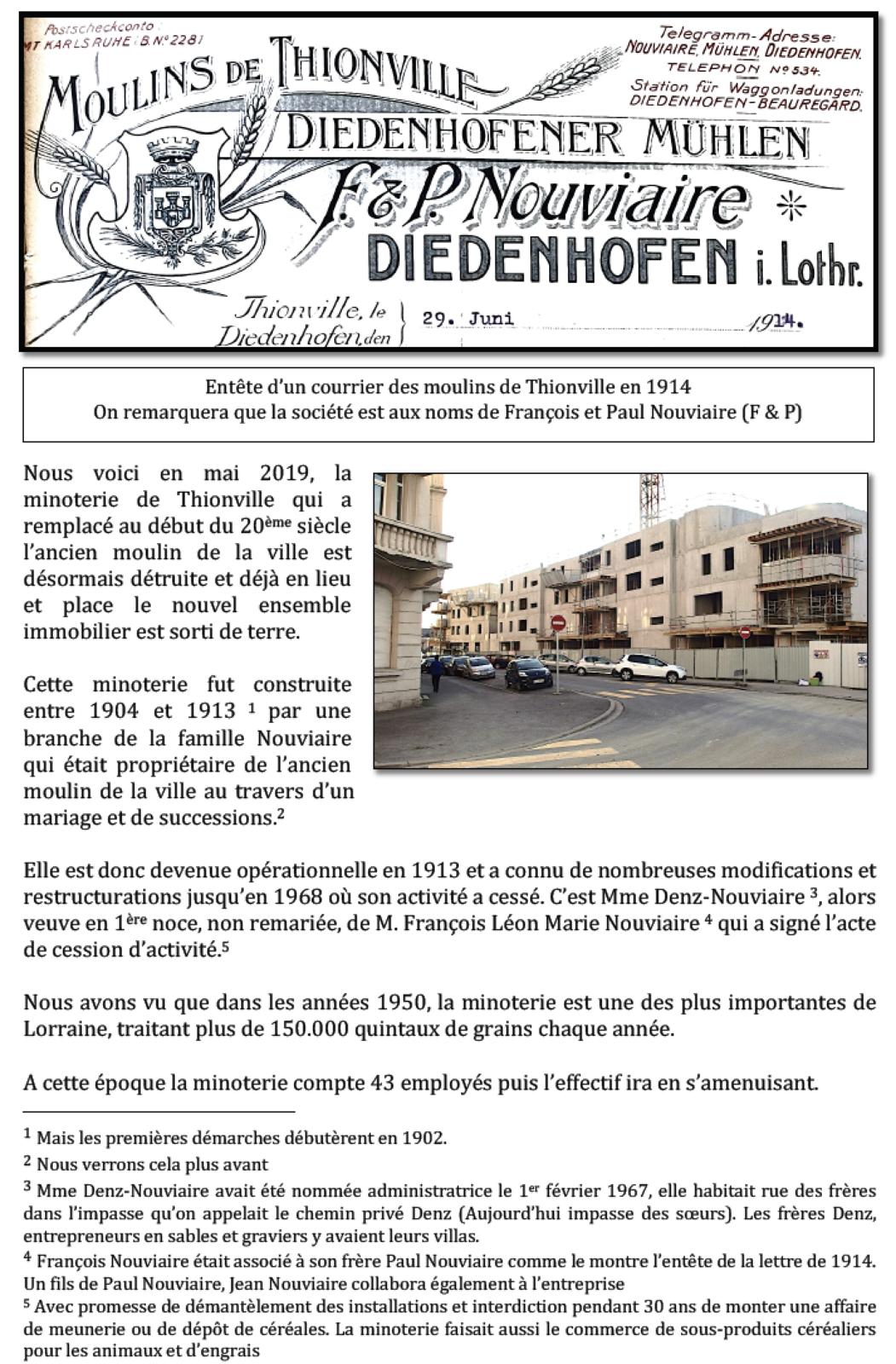 1458-2019 - Histoire du moulin de Thionville (suite 1)