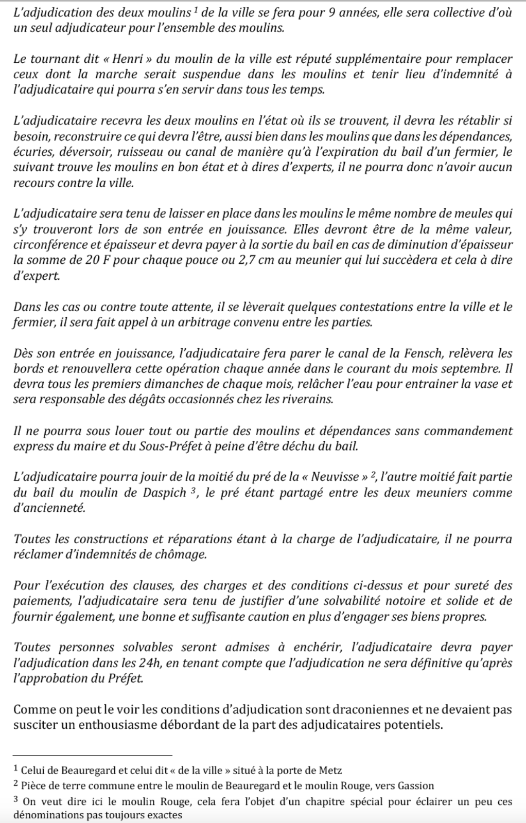 1458-2019 * Vie et mort du moulin de Thionville (suite 4- 19ème)