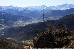 Vallée du Lez vue de la croix de Seignadé (970m)