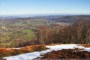 Vue sur Foix et la Barguillère