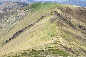 Col de l'Arech vu du tuc de Cagonilles (2196m)