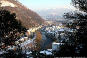 L'Ariège - Foix vus de Saint-Sauveur
