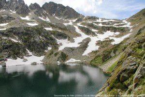 Second étang de l'Albe (2355m) - Col de l'Albe (2539m)